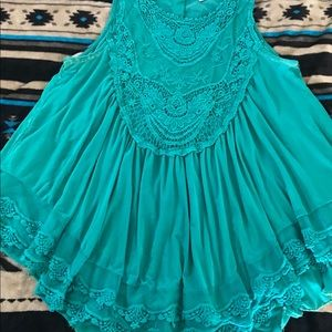 Dress jade color blouse